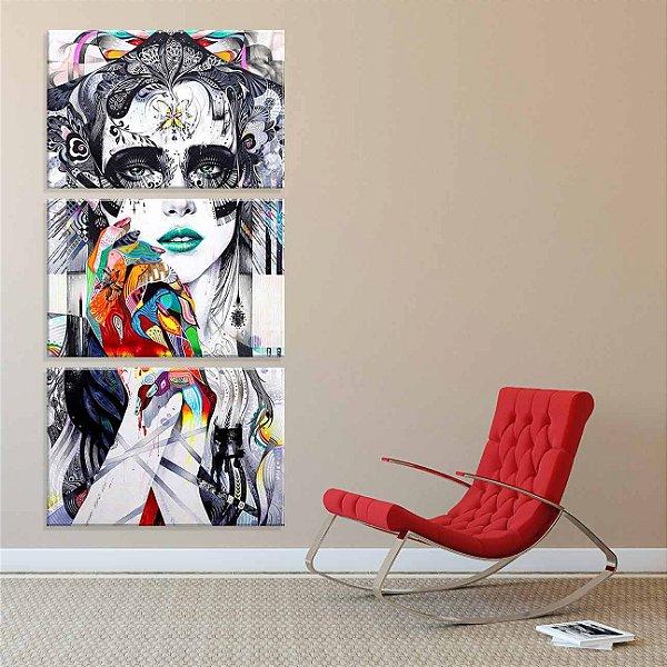 Minjae Lee - 3 telas canvas