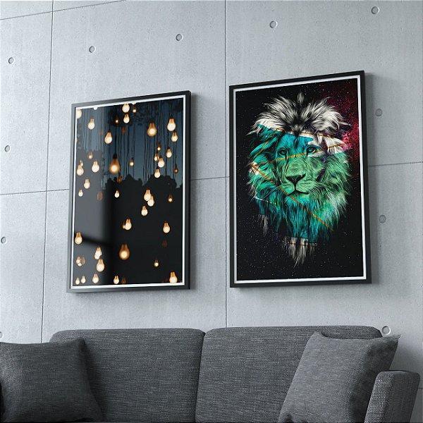 Luzes + Leão  - 2 Quadros