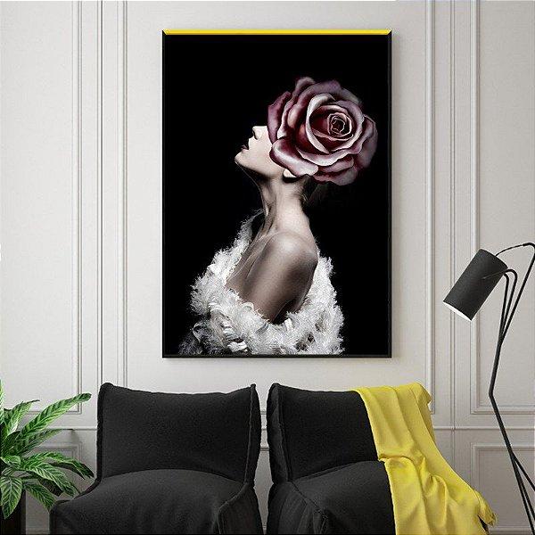 Mulher e a flor - Emoldurado