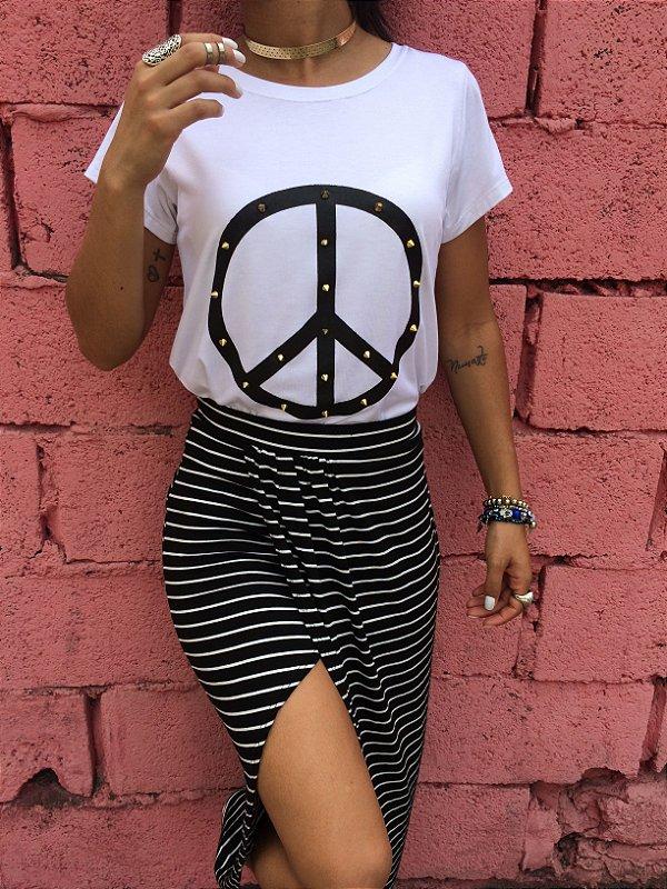 T-shirt Paz com Spike