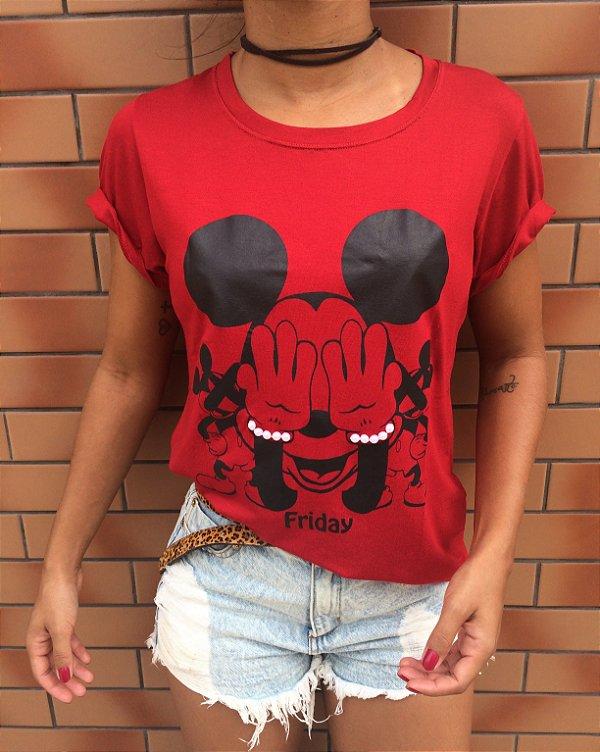 T-shirt Mickey com pérolas