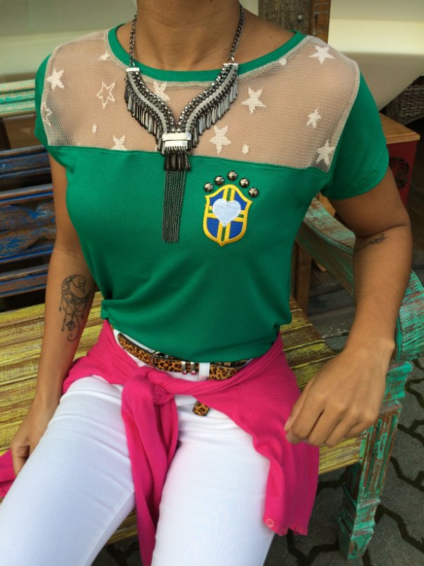 T-shirt do Brasil com tule