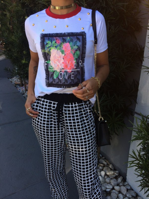 T-shirt Forever Love bordada