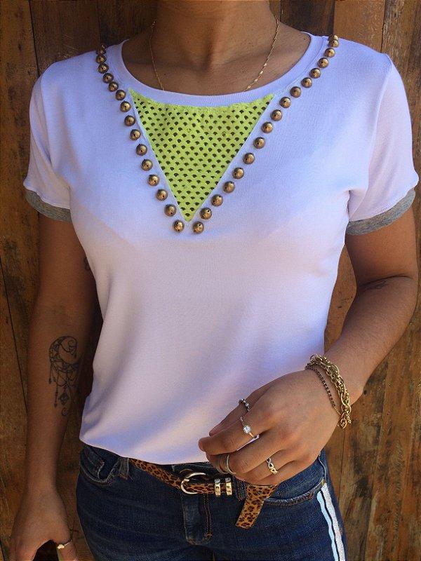 T-shirt Bordada com telinha