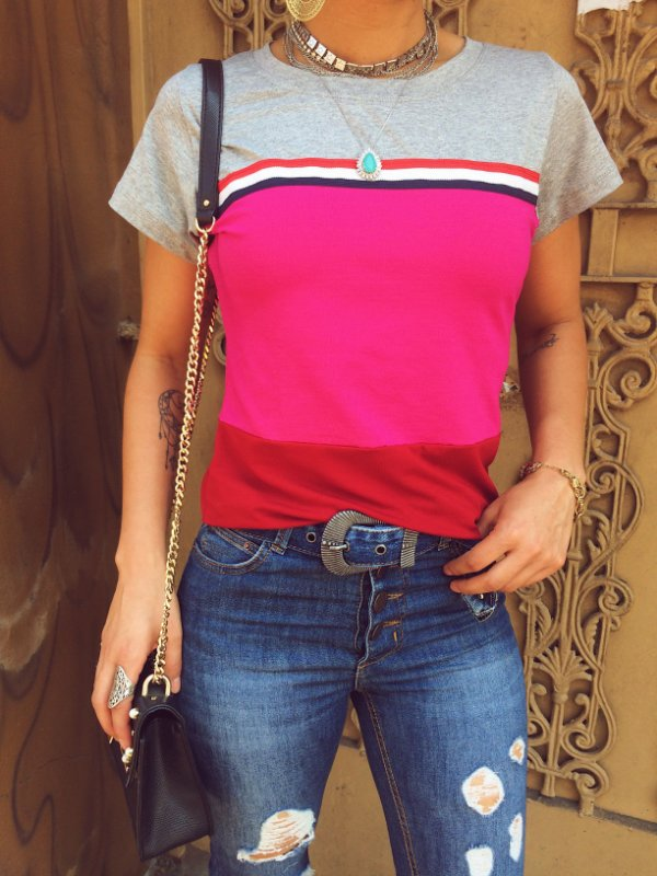T-shirt PINK and RED