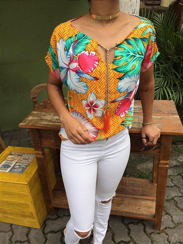 T-shirt Floral de viscose