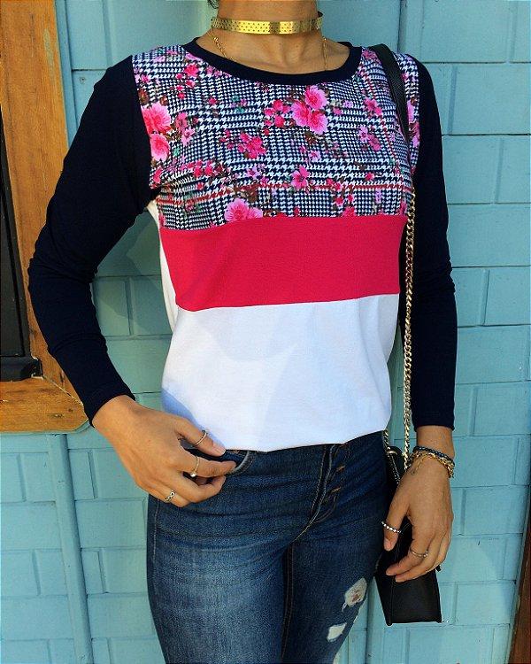 T-shirt Floral Pink