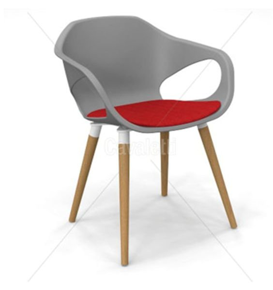 Cadeira Aproximação com Pé Madeira Envernizado Cavaletti Stay – 33206