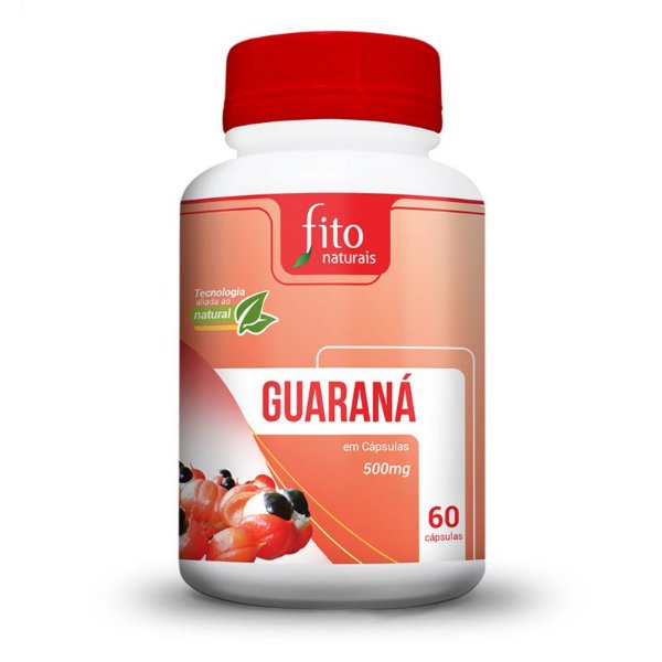 Guaraná - 60 Cáps. - 500mg - Fito