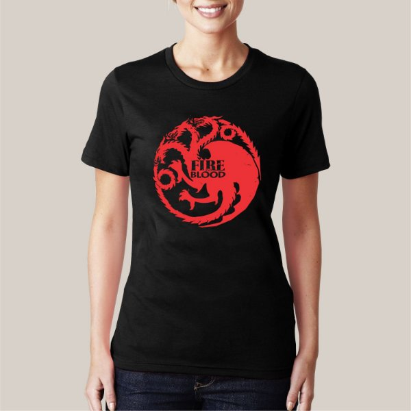 Camiseta Fire and Blood