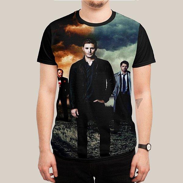 Camiseta Dean Castiel Crowley