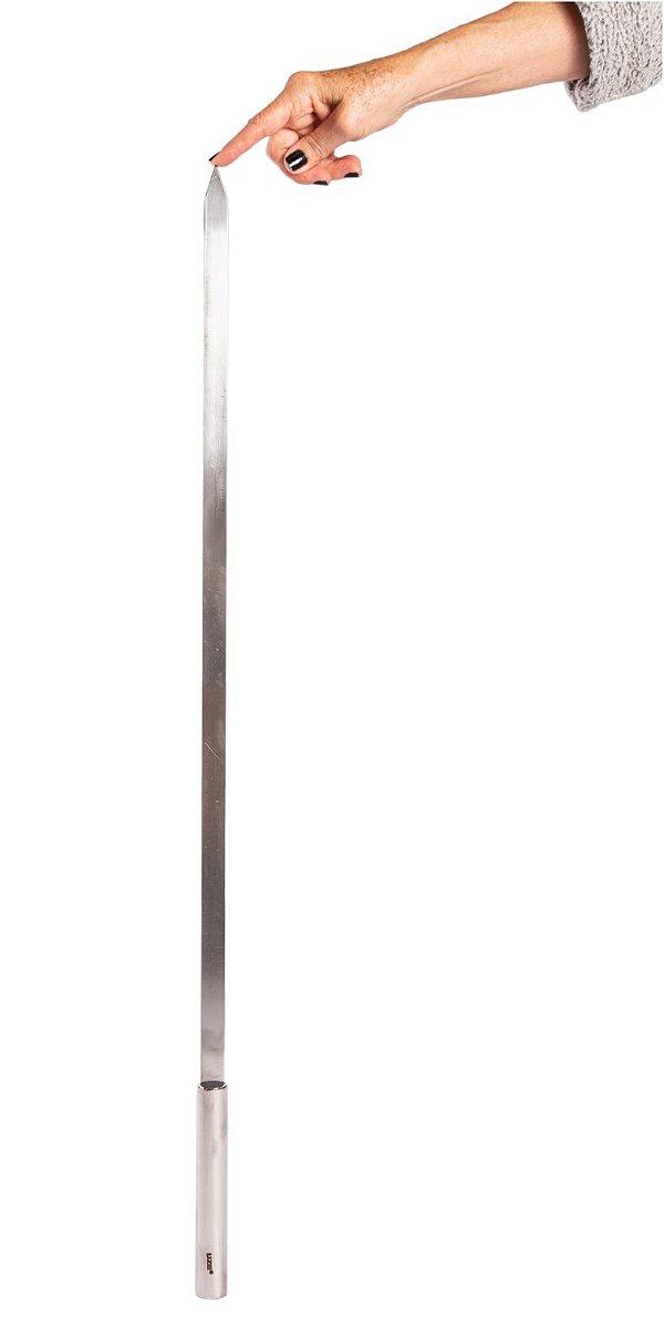 559 - Espeto Simples Estreito Premium 12 mm largura - 75 cm