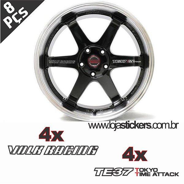 Kit Adesivo Volks Rays TE37 Time Attack