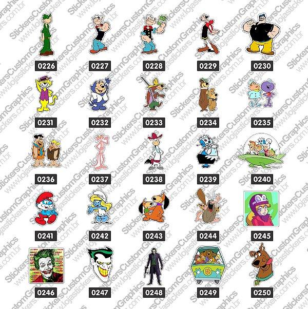 Adesivos Personagens 8