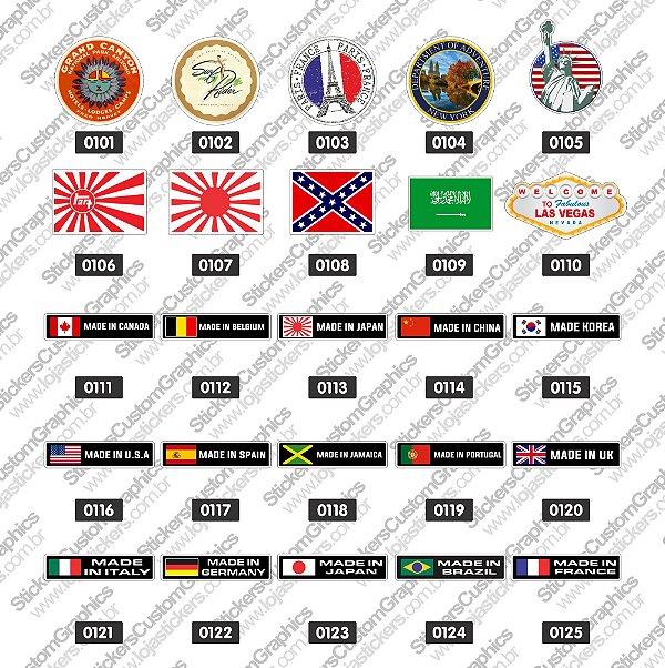 Adesivos Bandeiras 5