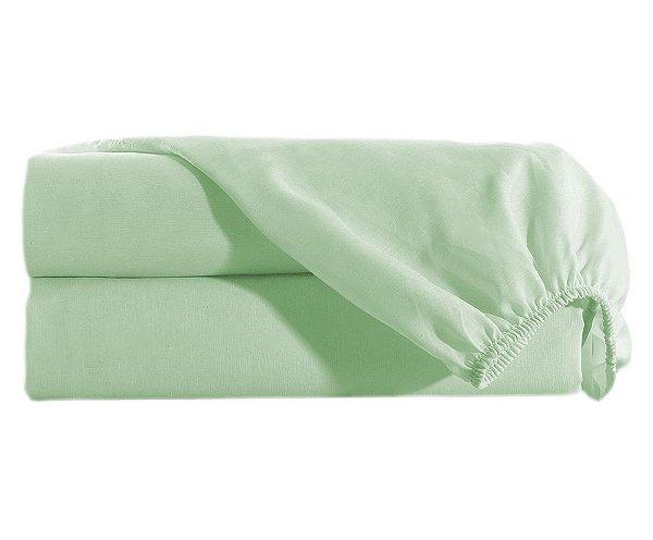 Lençol Casal com Elastico Percal 150 fios 100% Algodão Avulso - Verde