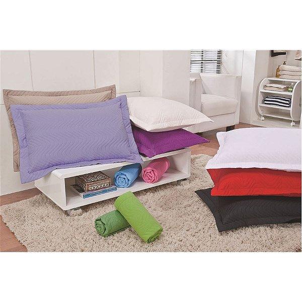 Porta Travesseiro Matelado em Microfibra – Branco