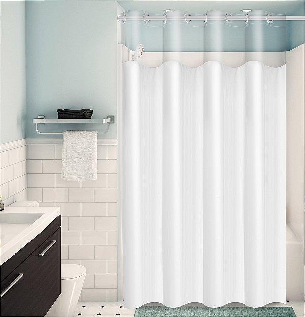 Cortina para Box de Banheiro Monocolors – Branco