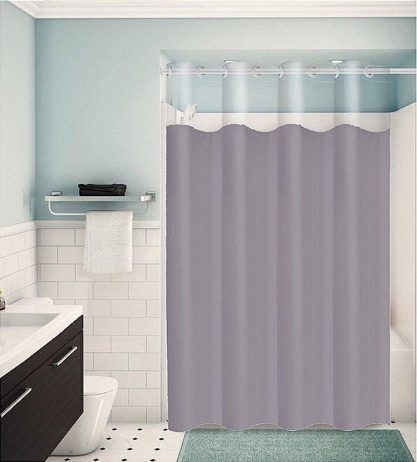 Cortina para Box de Banheiro Monocolors – Cinza