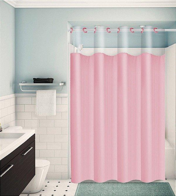 Cortina para Box de Banheiro Monocolors – Rosa