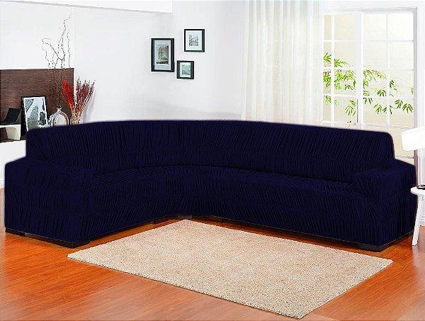 Capa de sofa de canto Elasticada 1 peça – Marinho