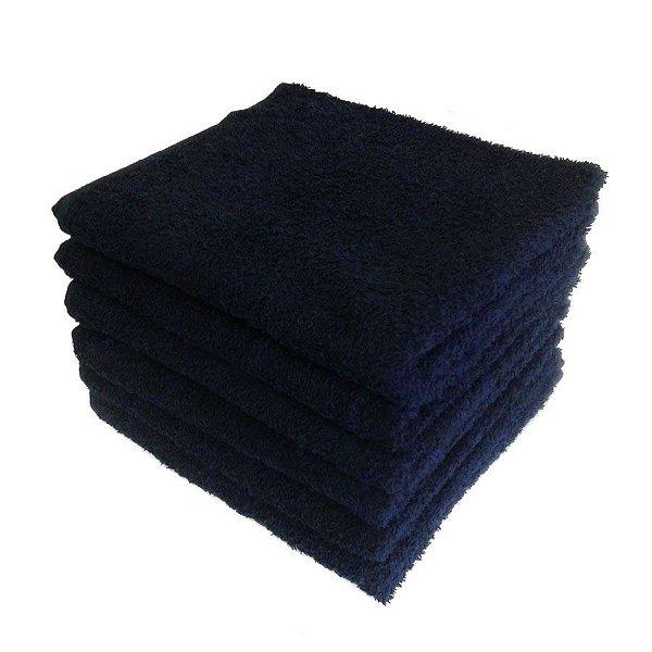 Kit Com 12 toalhas de Rosto para Salão (Atacado) -  Preto