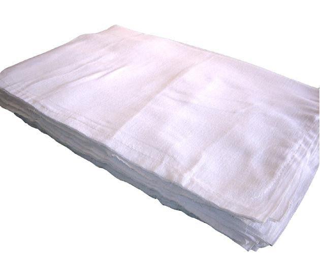 Pacote de Saco  Alvejado Costurado p/ Limpeza 47 x 66cm - 20 unidades