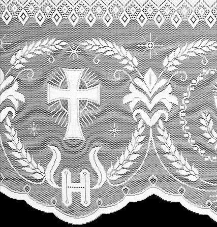 Renda Litúrgica 10 m com 60 cm de altura p/ toalha de Altar (16060)