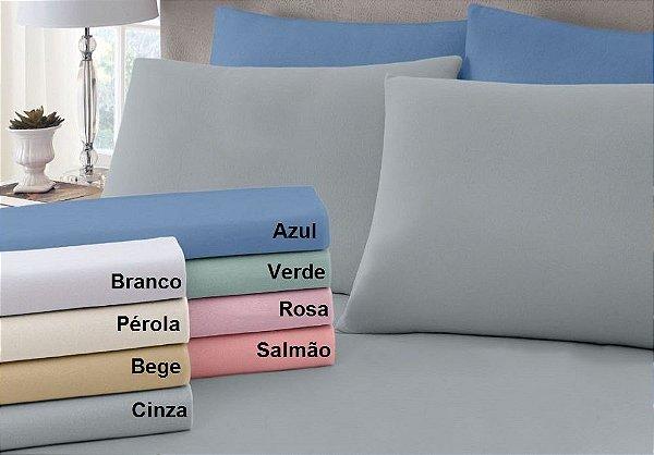 Lençol Queen com Elastico em Malha Premium 100% Algodão Avulso - Pérola