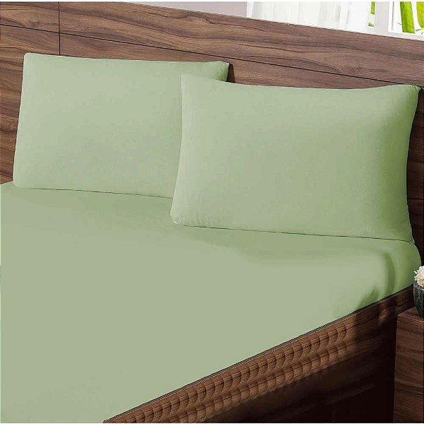 Lençol Queen com Elastico em Malha Premium 100% Algodão Avulso - Verde
