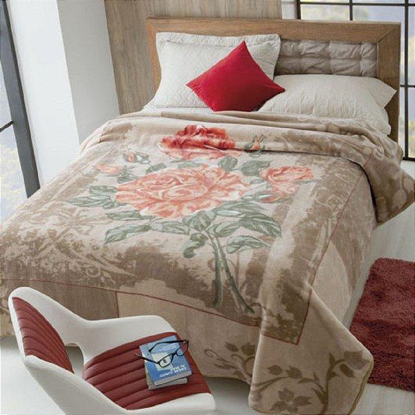 Cobertor Casal Rachel Estampado Jolitex - Elegance