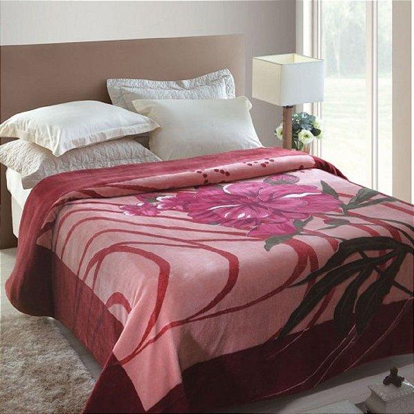 Cobertor Casal Rachel Estampado Jolitex - Miquerinos Rosa
