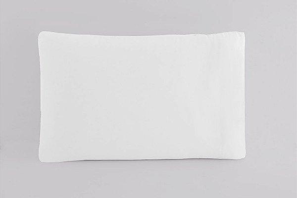 Fronha Avulsa 50 x 70 cm em Percal 150 Fios 100% Algodão - Branco