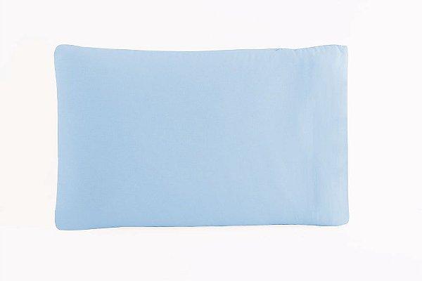 Fronha Avulsa 50 x 70 cm em Percal 150 Fios 100% Algodão - Azul