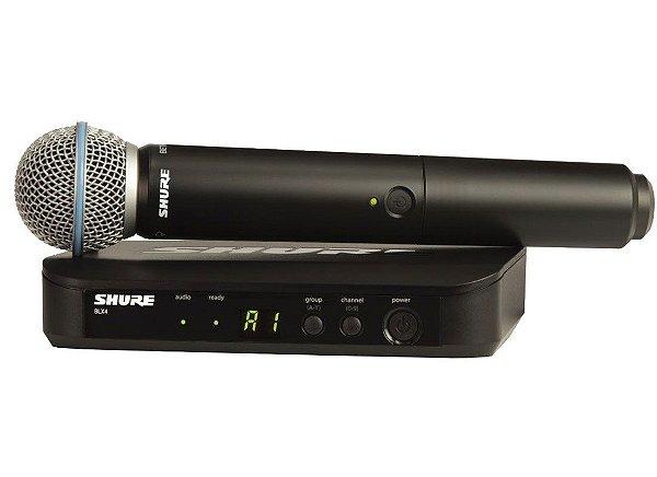 Microfone sem Fio BLX24/B58 Handheld Wireless System