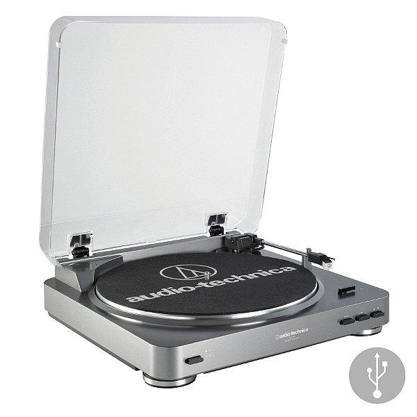 Toca-Discos Audio-Technica LP60 USB Com Sistema de conversão de LP