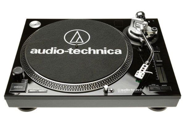 Toca-Discos Profissional Audio-Technica LP120 Direct-Drive USB com Sistema de conversão de LP Preto