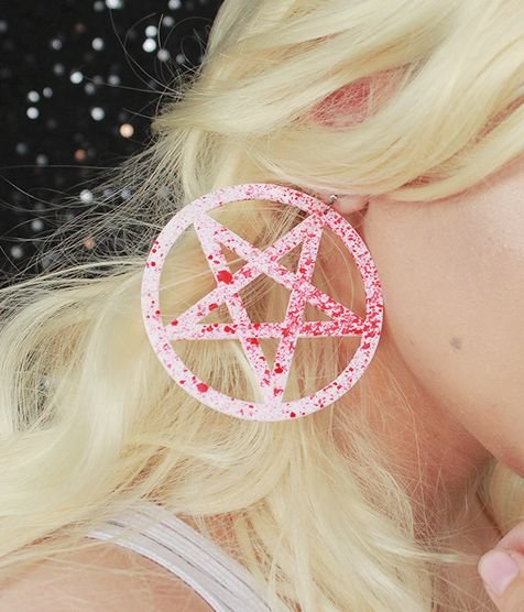 Brinco Pentagrama Splatter Gore
