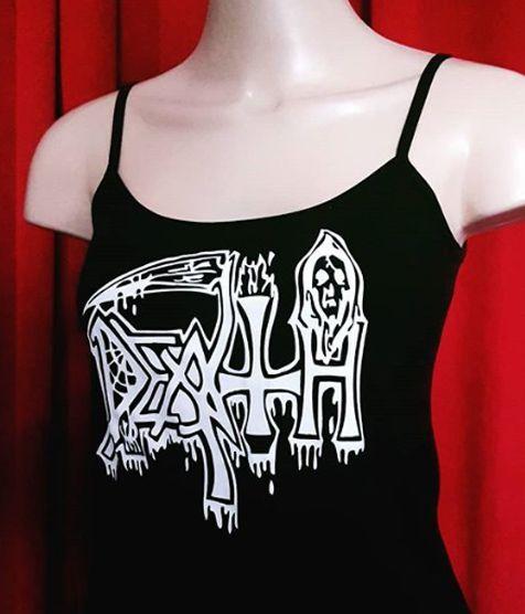Alcinha Death (Logo Antigo) Pintada a Mão