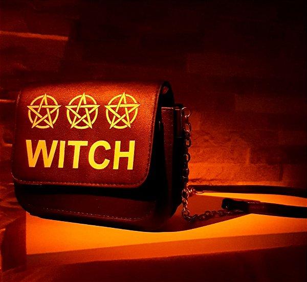 Peça Única: Bolsa Witch Pintada a Mão