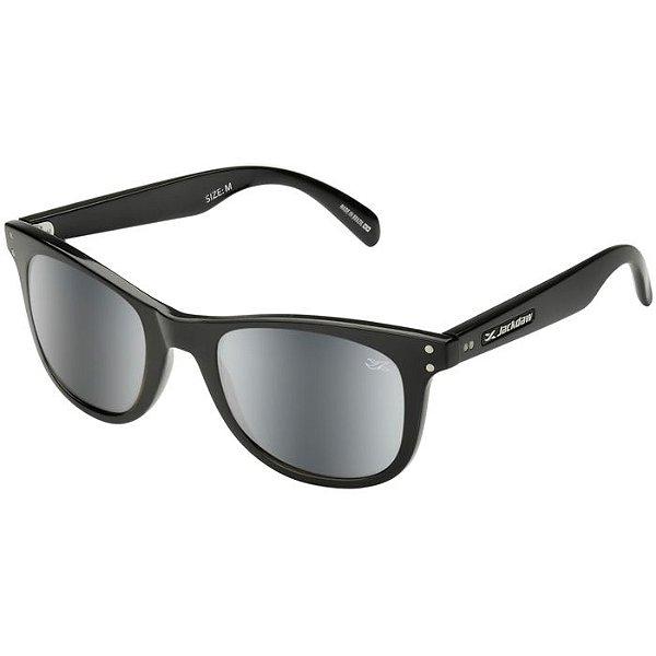 Óculos de Sol Jackdaw 10 Preto Brilho com Lentes Cinza Semi-Espelhado