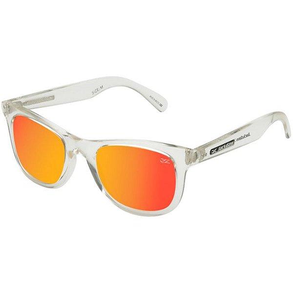 d914b7e670856 Óculos de Sol Jackdaw 29 Transparente com Lentes Vermelho Espelhado ...