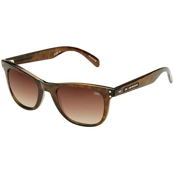 5dc5dd6cf5985 Óculos de Sol Jackdaw 40 Marrom Demi Brilho com Lentes Marrom Degradê