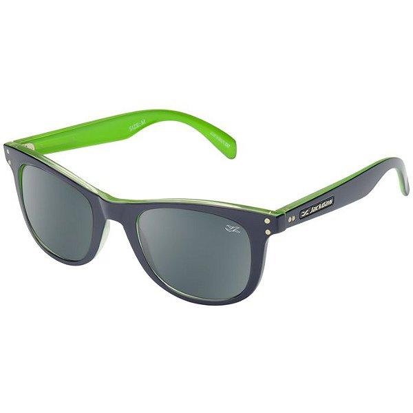 Óculos de Sol Jackdaw 44 Azul Marinho e Verde Brilho com Lentes Cinza