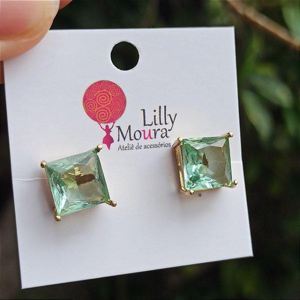 Brinco cristal verde