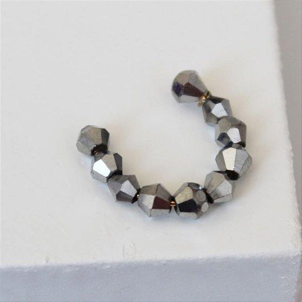 Piercing Fake cristal prata