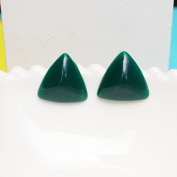 Brinco resina pirâmide bandeira