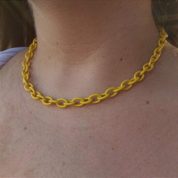 Corrente cadeado amarelo