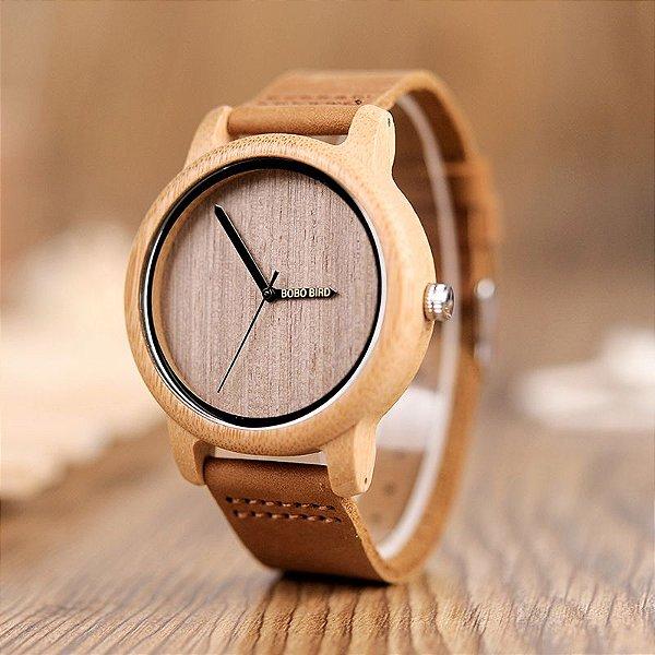 feaa1d8d11f Dali Menina Mulher - Relógio Bamboo Japonês - Dali Menina Mulher