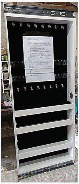 Armário para Bijuterias, Joias e Maquiagem Porta MDF - Porta de Correr (Tam. Médio)